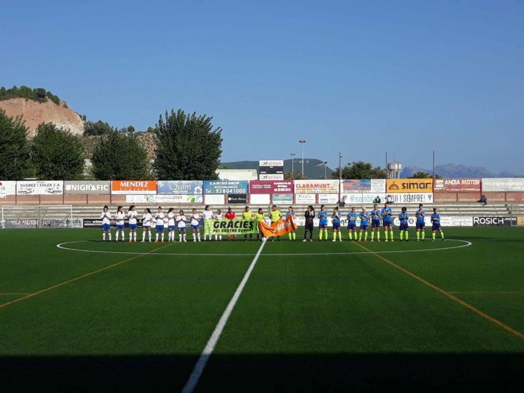 594ffc3ef2047 Inicio del partido entre el CF Igualada y del Zaragoza CFF. Fuente  Zaragoza  CFF
